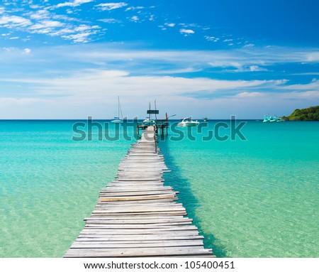 Boardwalk Admire Living is Easy - stock photo