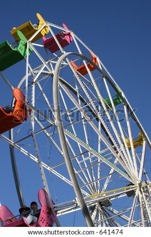 Boardwalk Ferris Wheel - stock photo