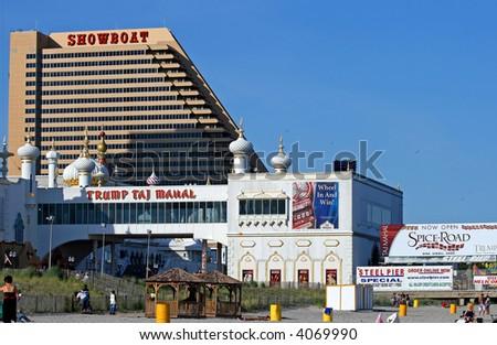 Boardwalk in Atlantic City New Jersey - stock photo