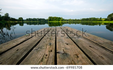 Boardwalk on the Lake in Estonia