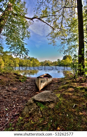 Boat by the Lake - stock photo