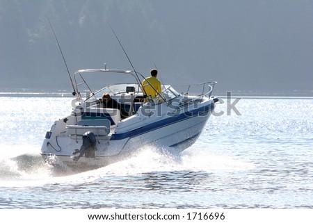 Boat cruising - stock photo