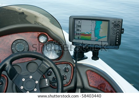 Boat electronics - stock photo