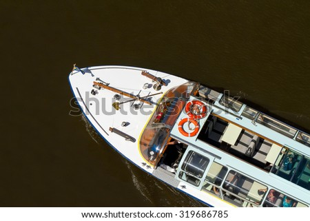 boat from up - stock photo