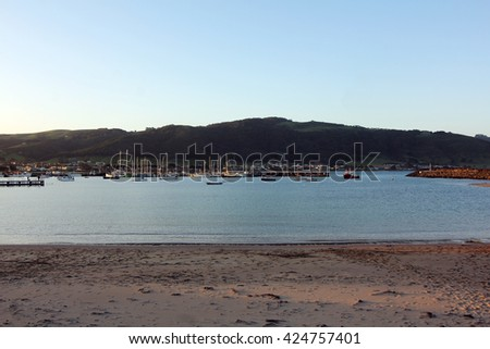 boat harbor at apollo bay