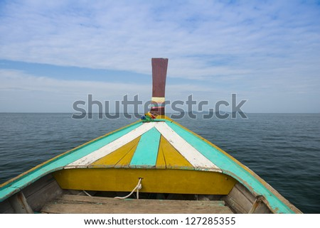 boat heading to the island