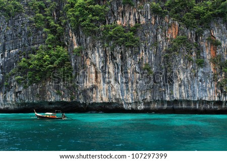 Boat  in andaman sea Thailand - stock photo