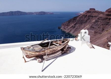 Boat in the roof - stock photo