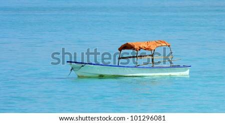 Boat in Zanzibar in a sunny day - stock photo