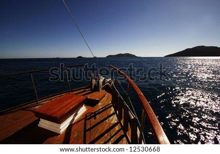 Boat Landscape - stock photo
