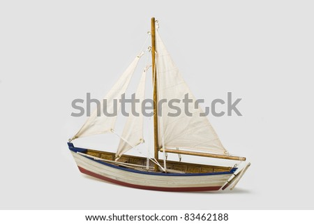 Boat model - stock photo