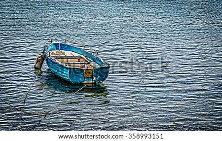Boat moored - stock photo