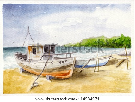 Boat number 445 - stock photo