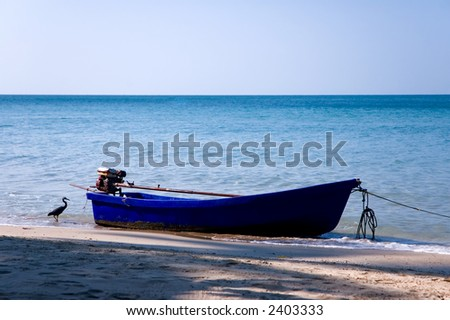boat on a beach