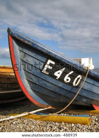 Boat on a beach - stock photo