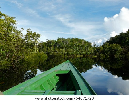 Boat on Amazon river, Brazil