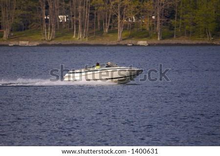 Boat on Lake (Close Up) - stock photo