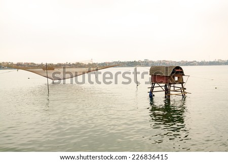 Boat on river at Vietnam - stock photo