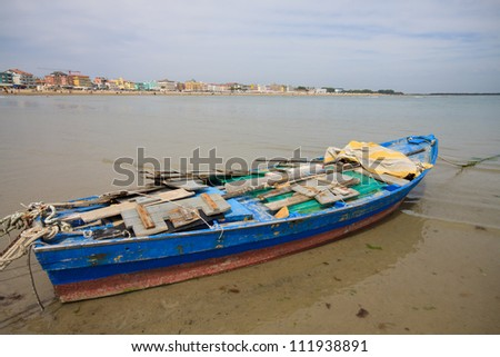 boat on the beach of Caorle