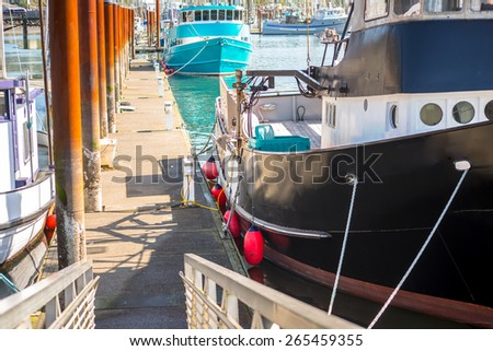 Boat on the Dock - stock photo