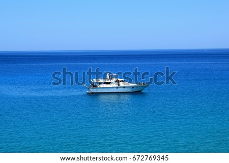 Boat on the Mediterranean Sea