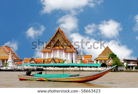 Boat on the river Chao Phraya, Bangkok