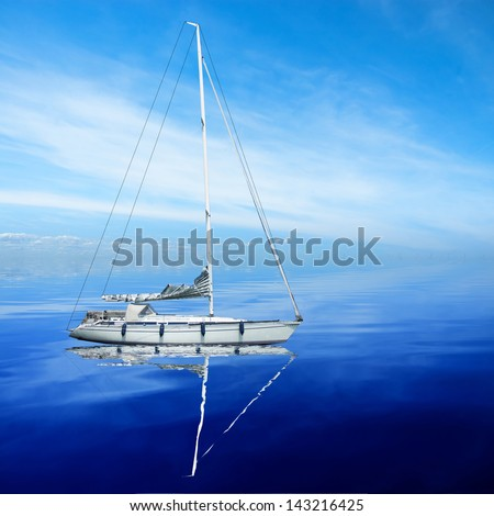 boat on the sea at summer time with nice weather