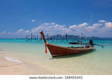 Boat on the sea in Southern of Thailand