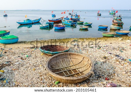 Boat on Vietnam beach
