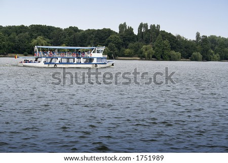 Boat sailing on a river