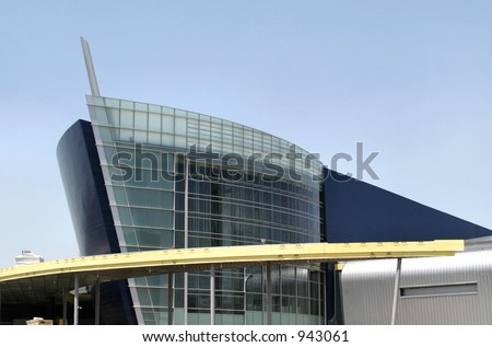 Boat shaped building in Atlanta - stock photo