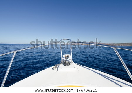 Boat tour in the sea of cortez - stock photo