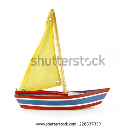 Boat toy - stock photo