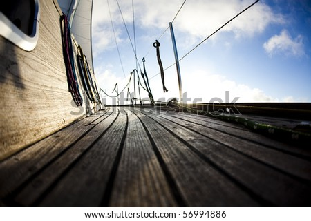 Boating detail - stock photo