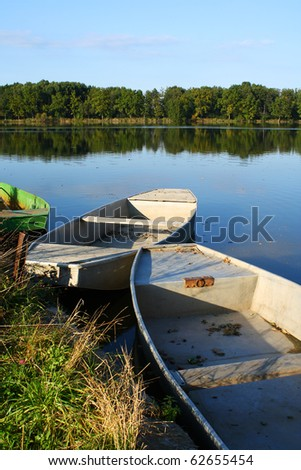 boats at a pond