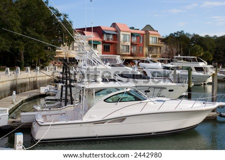 Boats at Hilton Head, NC - stock photo