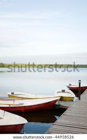 Boats at lake