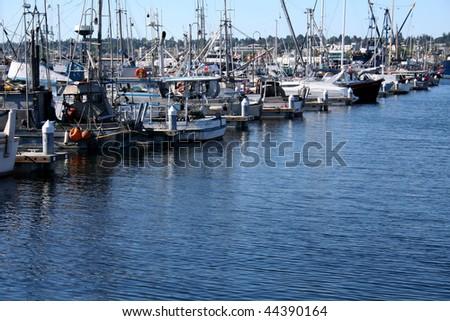 boats at pier - stock photo