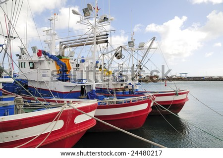 Boats at the harbour - stock photo