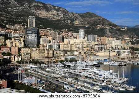 Boats docked at the marina of Monte Carlo in Monaco.