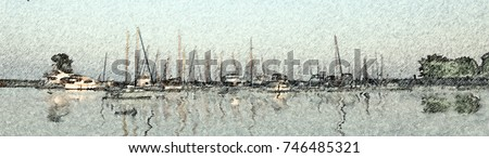stock-photo-boats-docked-in-a-marina-fro