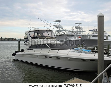 Boats docked in Southwest Florida City Dock