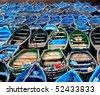 Boats.Essueirra.Mor occo - stock photo