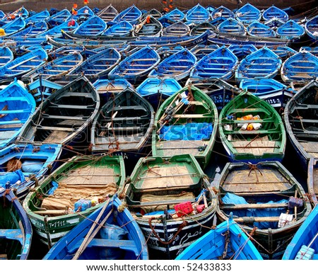 Boats.Essueirra.Morocco - stock photo