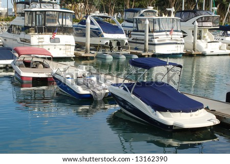 Boats in a marina; San Diego, California