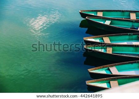 boats in a water - stock photo