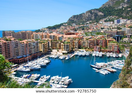 Boats in a wonderful monaco bay