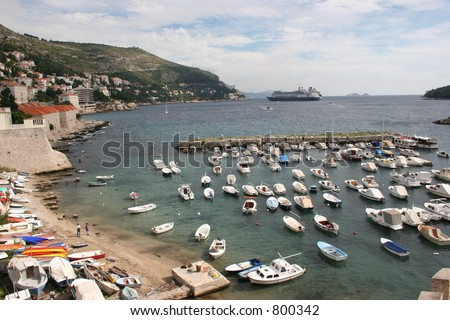 Boats in Croatia - stock photo