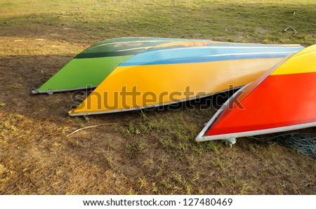 Boats near beach - stock photo
