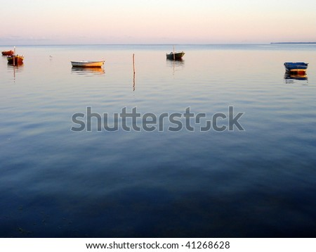Boats on a lake